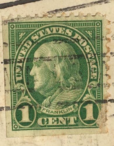 Rare Postage Stamp United States Rare 1 Cent Green Franklin Stamp 1936